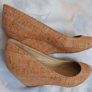 Kate Spade NY Cork Wedge Heels Size 7M